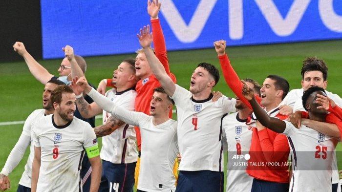 12 Data dan Fakta Terkait Inggris ke Final EURO 2020 Setelah Menang 2-1 atas Denmark di Semifinal